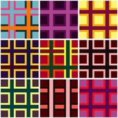 Abstract checkered vibrant colors pattern — Stock Vector