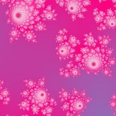 Pink fractal decorative pattern with cute rosebud shapes — Stock Photo