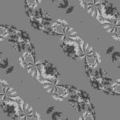 Abstract gray floral bias line fractal seamless pattern — Stock Photo