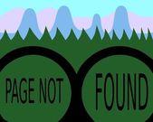 Page not found - binoculars — Stock Vector