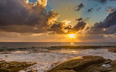 Sunset on the Atlantic Ocean. — Stock Photo