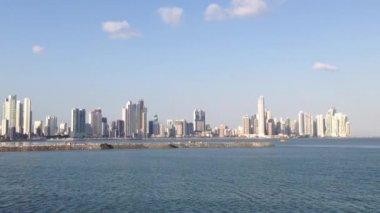 Panama city skyline — Stock Video