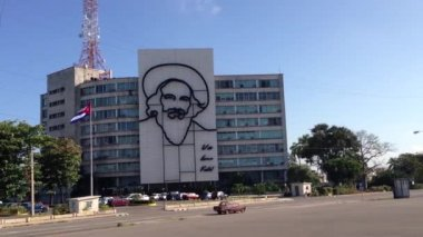 Revolution square, Plaza de la Revolucion in Havana, Cuba — Vídeo Stock