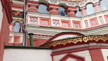 Tilt Saint Basil's Cathedral in Moscow, Kremlin — Stock Video