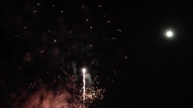 Fireworks at the Tapati festival in the Easter Island, Rapa Nui — Stock Video