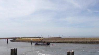 Harbor in harlingen, Friesland, The Netherlands — Stock Video