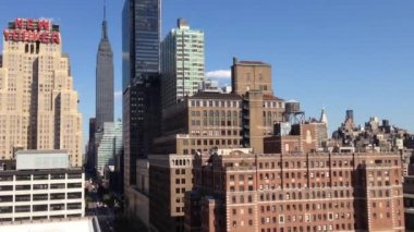 Rooftop with view at the Empire state — Vídeo Stock