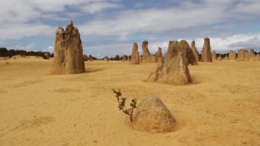 Pinnacles cervantes western Australia — Stok video