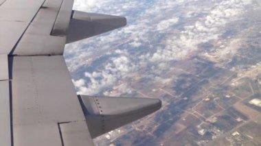 Flying above, Texas, USA — Stok video