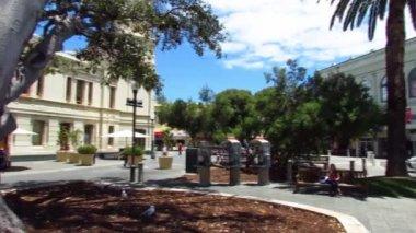 Square in Fremantle Western Australia — Stock Video