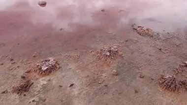 Pink lake close to Kalbarri, western Australia — Stok video