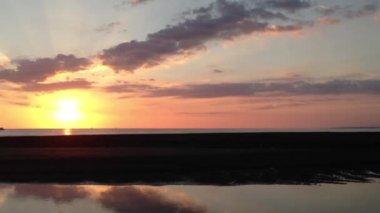 Sunset at Quepos Costa Rica — Stock Video