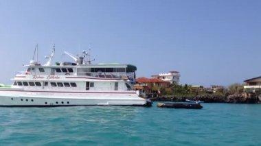 Arriving in Santa Cruz, Galapagos Islands, Ecuador — Stock Video