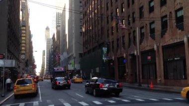 Traffic downtown Manhattan, New York City, USA — Stock Video