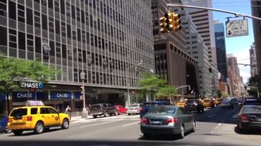 Traffic downtown Manhattan, New York City, USA — 图库视频影像
