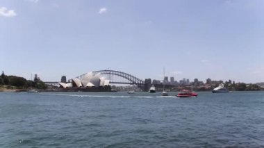 Opera house and harbour bridge in Australia — Vídeo Stock