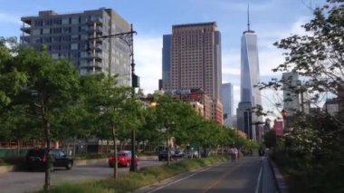 Freedom tower in Manhattan, New York City, USA — Stock Video
