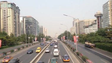 Traffic downtown Beijing, Peking, China — Stock Video