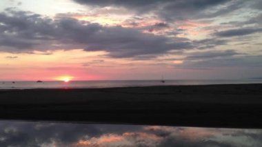 Sunset at Quepos Costa Rica — 图库视频影像