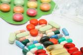 Pills background — Stock Photo