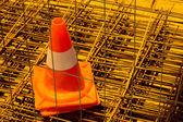 One Traffic cone — Stock Photo