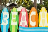 Harfler beach parlak panoları — Stok fotoğraf