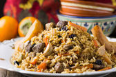 Plov with lamb and quince — Stockfoto