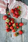 Strawberries on table — Stock Photo