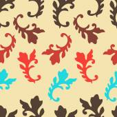 Colorful Seamless pattern with Baroque elements — Stock Vector