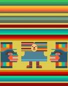 Bunte nahtlose Hintergrund mit mexikanischen Motiv — Stockvektor