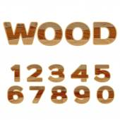 Numbers made of wood — Stock Vector