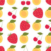 Seamless colorful background made of fruits and berries — Vector de stock