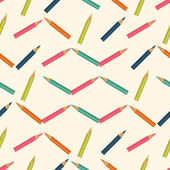 Seamless colorful background made of  pencils — Stock Vector