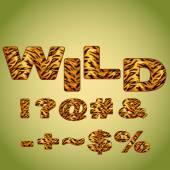 Symbols imitating tiger fur — Stock Vector