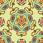 Seamless colorful background made of exotic pattern — Stock Vector