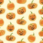 Seamless colorful background made of pumpkin — Stock Vector