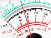 Pointer voltmeter close up — Stock Photo