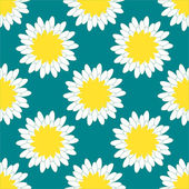 Camomile Pattern — Stock Vector