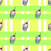 Ice cream pattern — Stock Vector