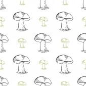 MushroomsPattern — Vector de stock