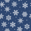 Seamless winter new year snowflakes background — Stock Vector #56462087