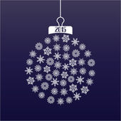 Christmass ball — Stock Vector