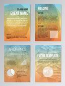 Set of Poster, Brochure Design Templates — Stock Vector