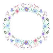 Akwarela kwiatowy ramki — Wektor stockowy