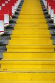 Steps between the stands at the stadium — Stock Photo