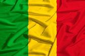 Malis flagga på en siden drapera vinka — Stockfoto