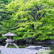 Japanese traditional stone lantern in a park in tokyo — Stock Photo #60470583