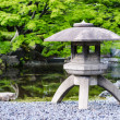 Japanese traditional stone lantern in a park in tokyo — Stock Photo #60470965