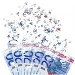 20 euro banknote dissolving as a concept of economic crysis — Stock Photo #64569813