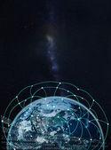 Rete globale sulla terra--elementi di questa immagine ammobiliati di Na — Foto Stock